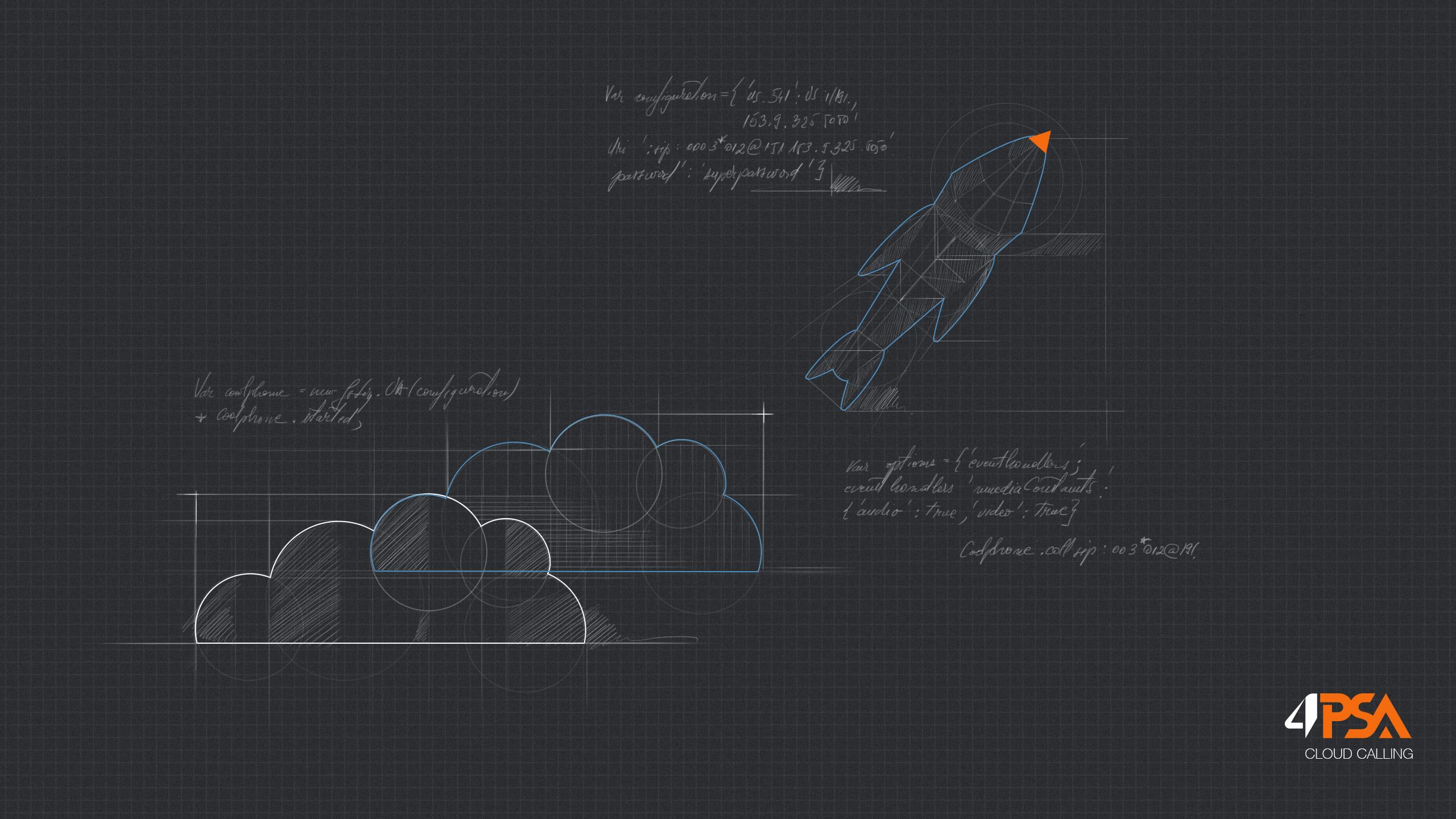 4PSA - Cloud Calling Wallpaper Drone Schematic Diagram on